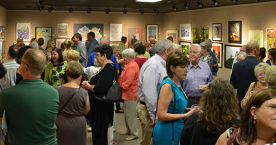 crowd of people at the River Road Show reception in 2016